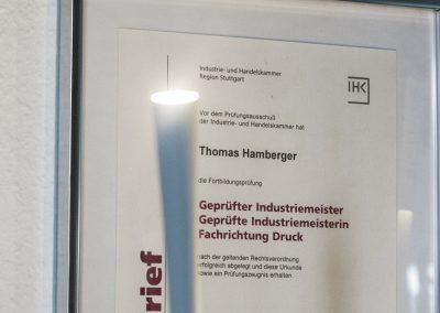 Druckerei Hamberger – Meisterfachbetrieb