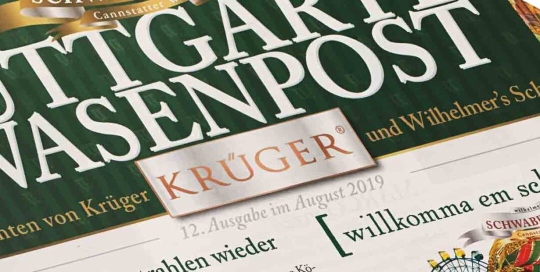 Festzeitung für Wilhelmer Gastronomie GmbH