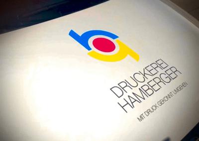 Ein Zeichen für viel Leistung – Druckerei Hamberger